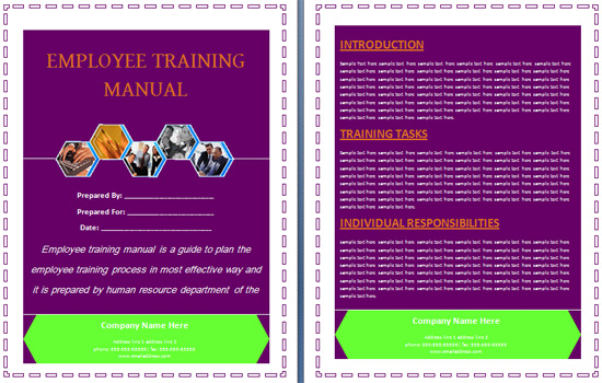 Boring Work Made Easy Free Templates for Creating Manuals - noupe - staff manual template