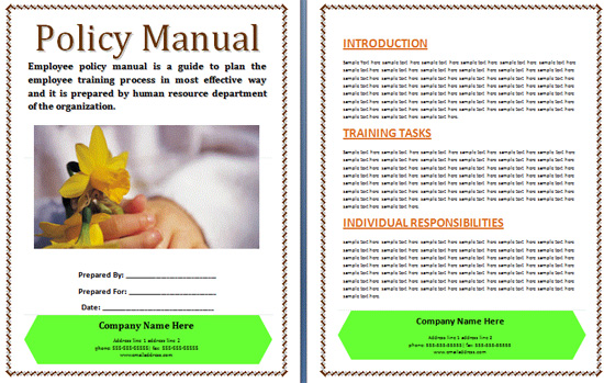 Boring Work Made Easy Free Templates for Creating Manuals - noupe - office manual template