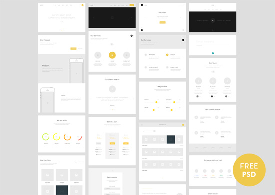 Quick, Not Dirty 30 Free Wireframe Style UIs, Mockups and Templates - wireframe templates