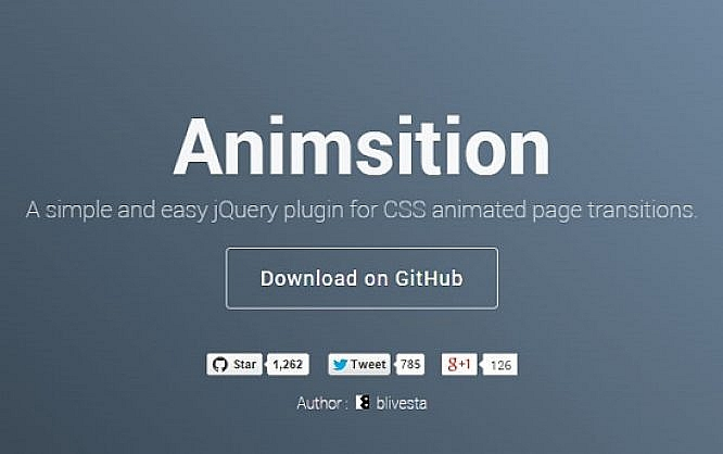 Animsition Animated Page Transitions with jQuery NOUPE