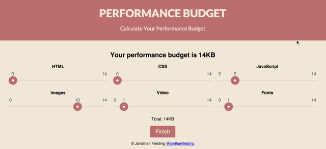 Performance Budget Free Online Tool for Page Optimization NOUPE - budget online free
