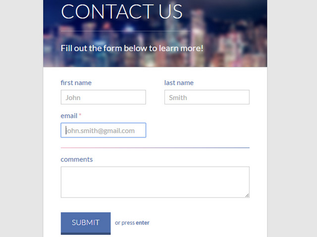 20 Code Snippets for Clean and Stylish Contact Forms The JotForm Blog