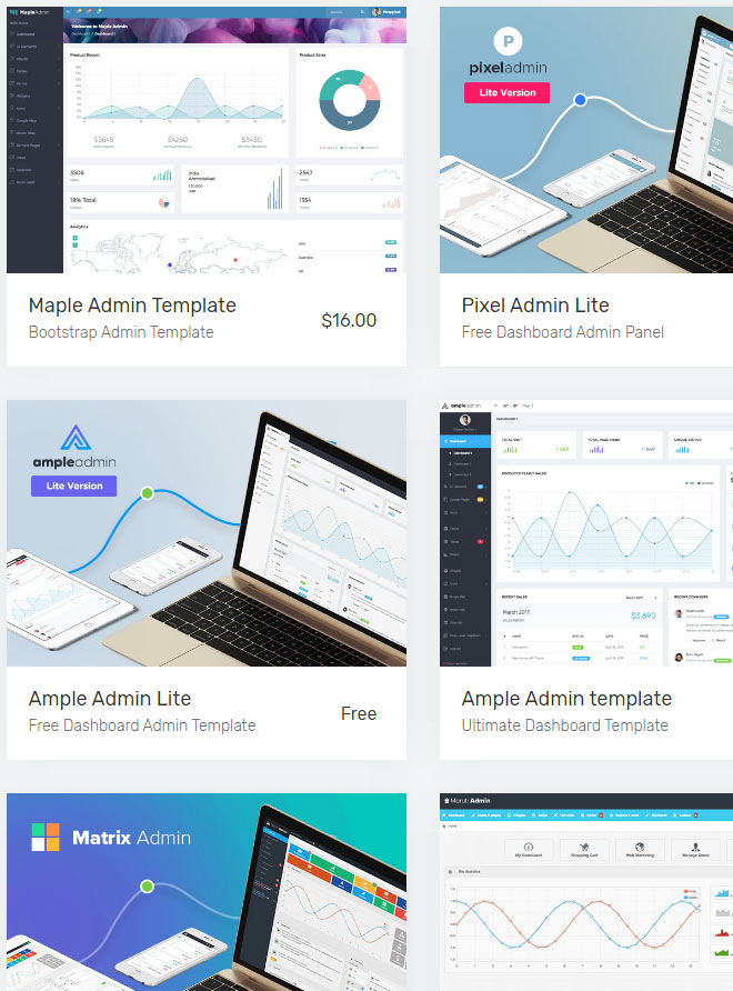 WrapPixel \u2013 Free and Premium Dashboard Templates NOUPE