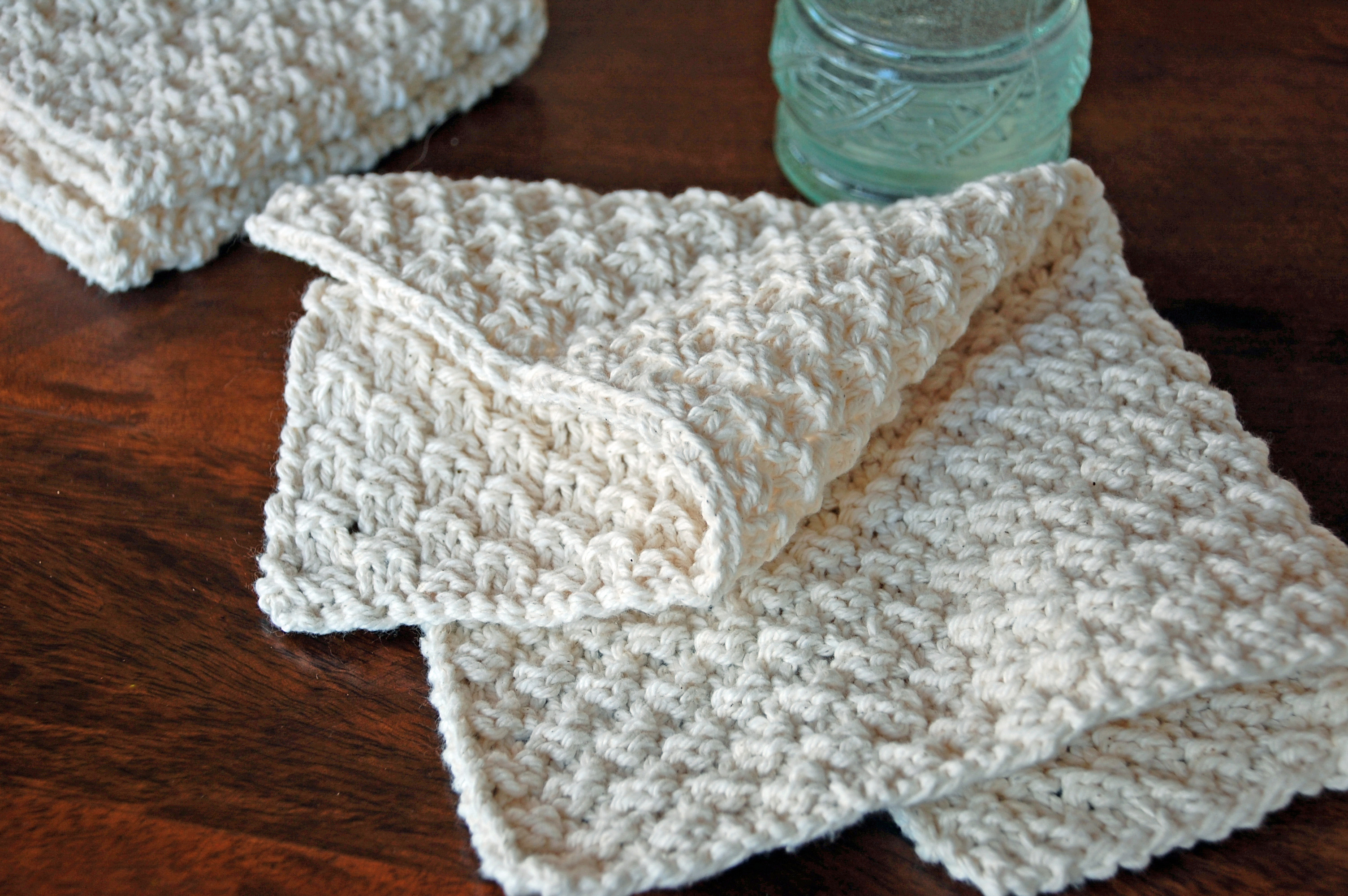 Hand Knit Washcloths   Nourish and Nestle