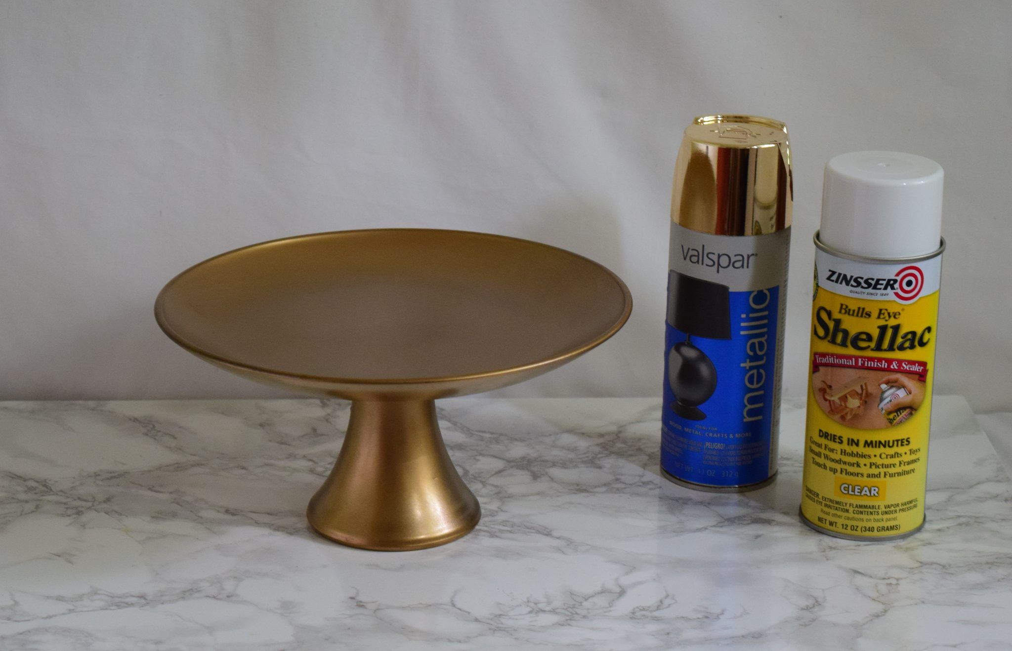 Gold Paint For Glass Glass Cake Stand Painted in