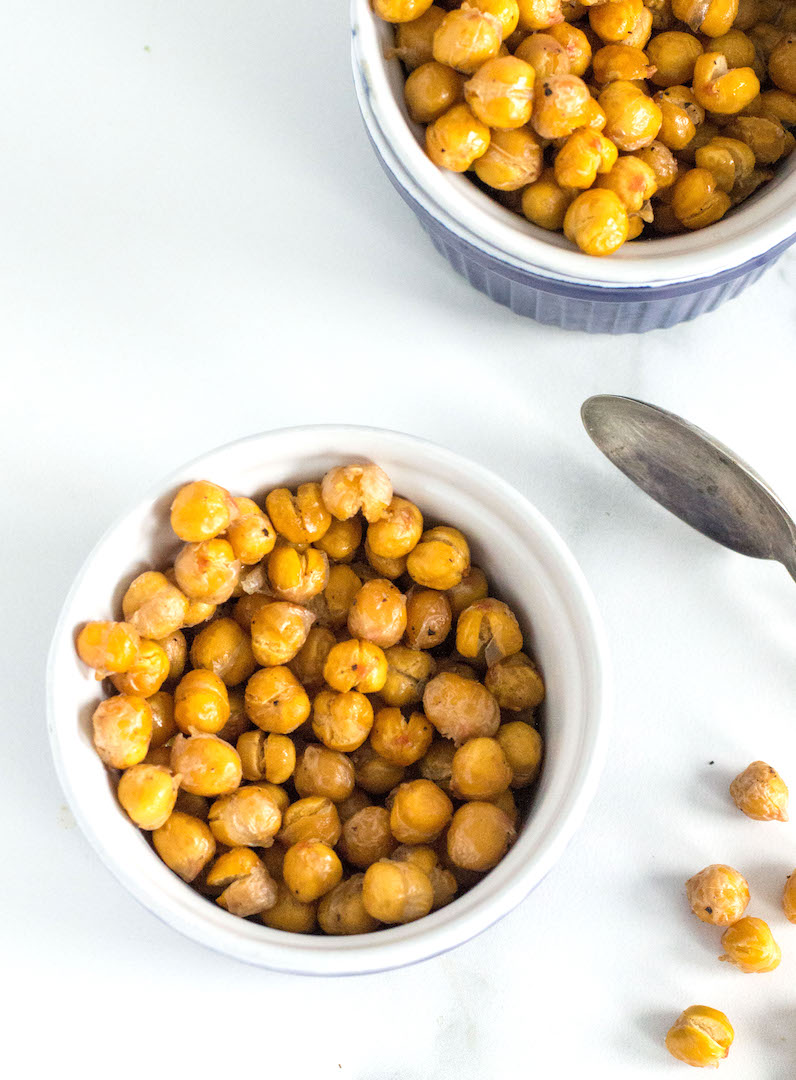 com | Crispy roasted chickpeas are my new favourite oven roasted snack ...