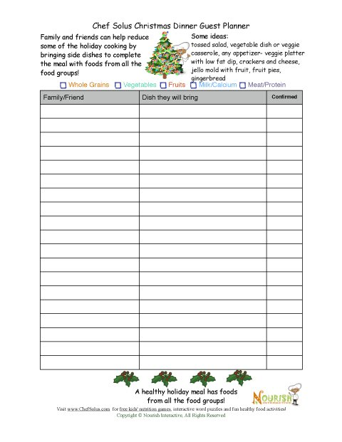 food day sign up sheet template - Josemulinohouse