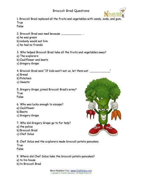 Free Printable Nutrition Worksheets - Davezan