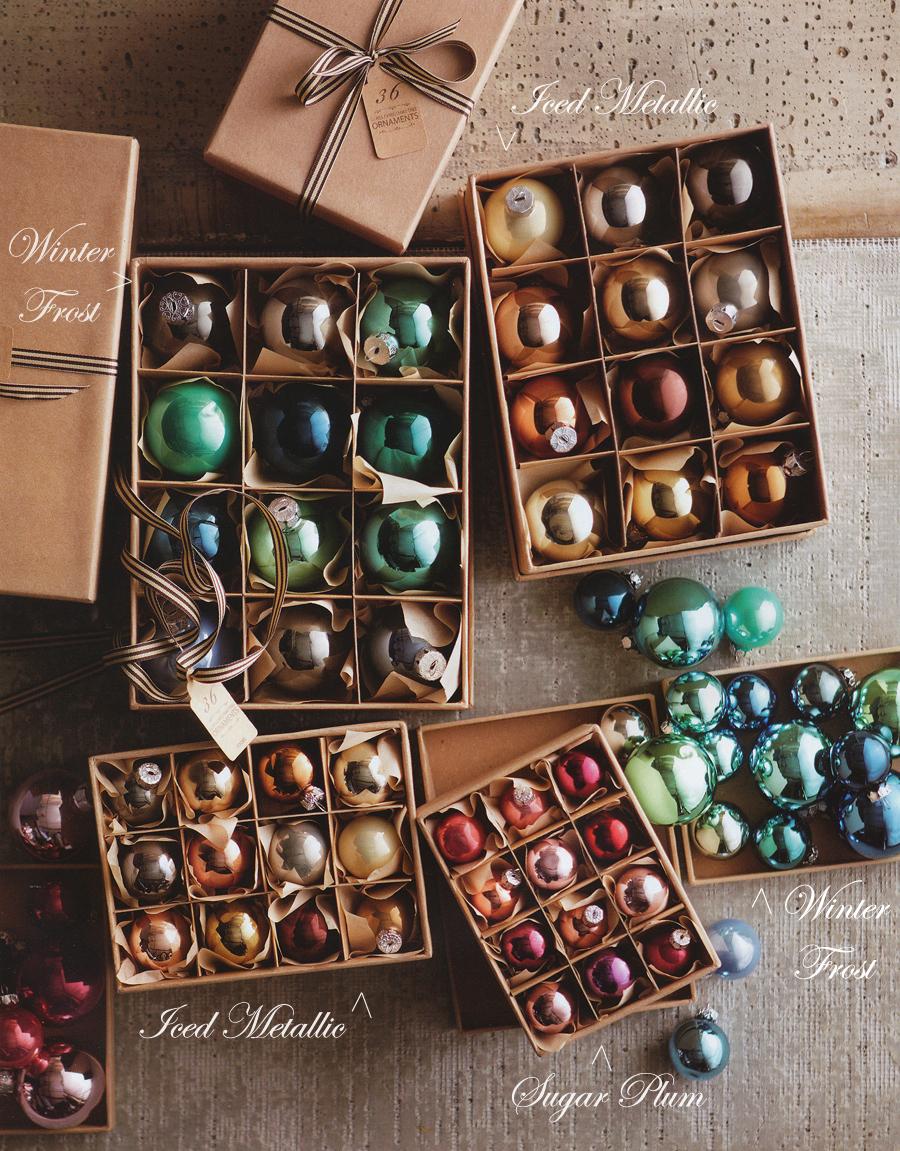Classic christmas tree ball ornaments set of 24