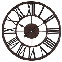 "Decorative 17"" Wall Clock - Metal - Roman Numeral Wall ..."