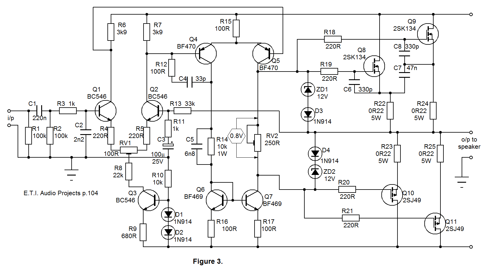 mosfet power amp circuit diagrams