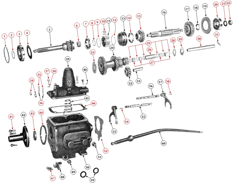 Parts for the T90 Transmission