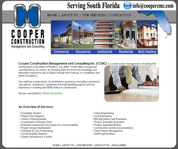 Affordable Construction Website Design, Custom Construction Websites