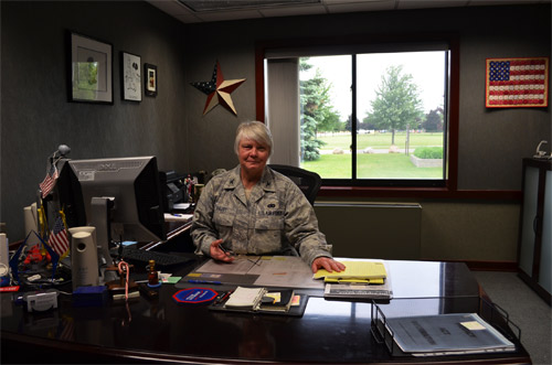 My colonel mom at her desk