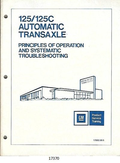125/125c Automatic Transaxle Principles of Operation and Stystematic