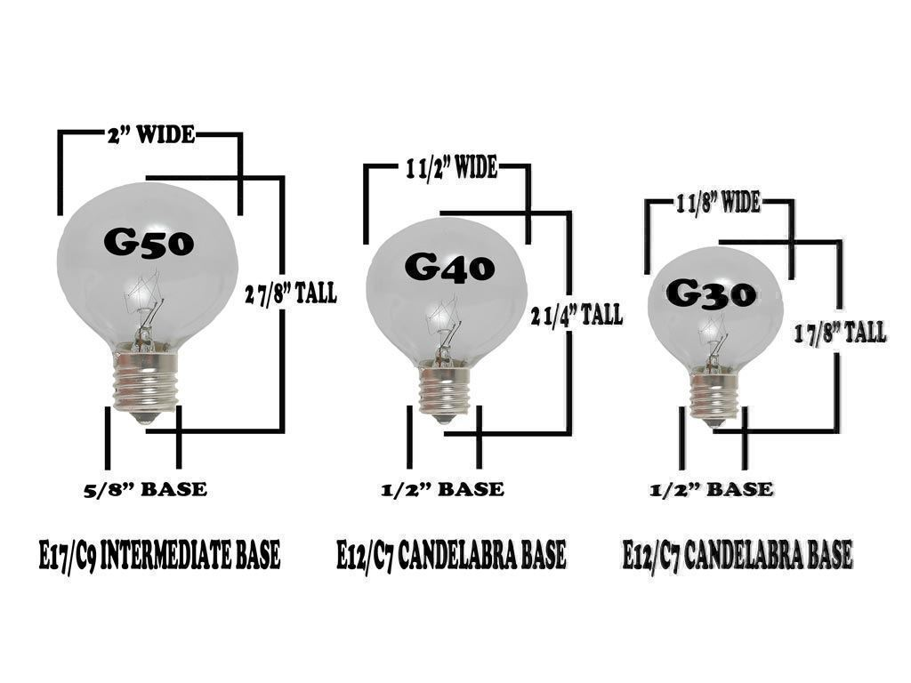 100 Foot G40 Outdoor Globe Patio String Lights Set Of