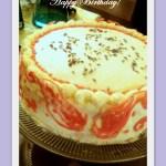 Lavender Chiffon Birthday Cake