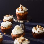 Streusel filled sour cream coffee cake cupcakes