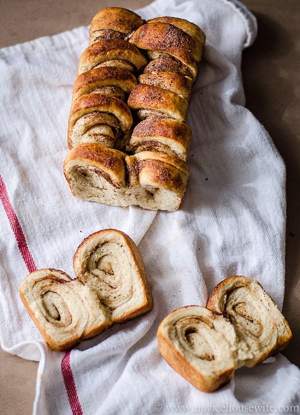 Whole Wheat Cinnamon Swirl Bread | The Novice Housewife