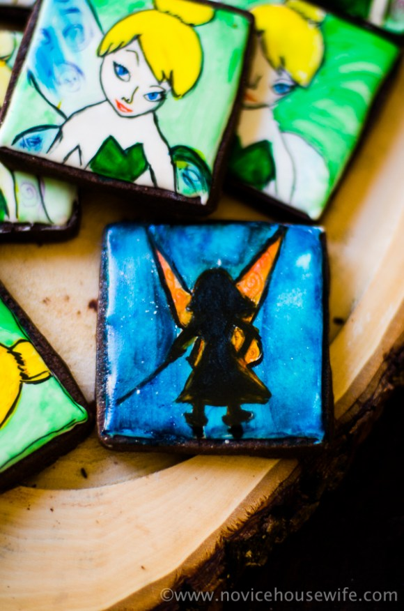 Tinker bell chocolate sugar cookies | The Novice Housewife #PirateFairy #BH #ad