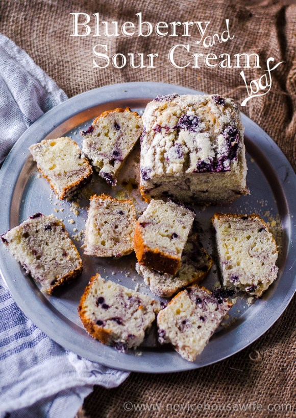 Blueberry and Sour Cream Loaf | The Novice Housewife
