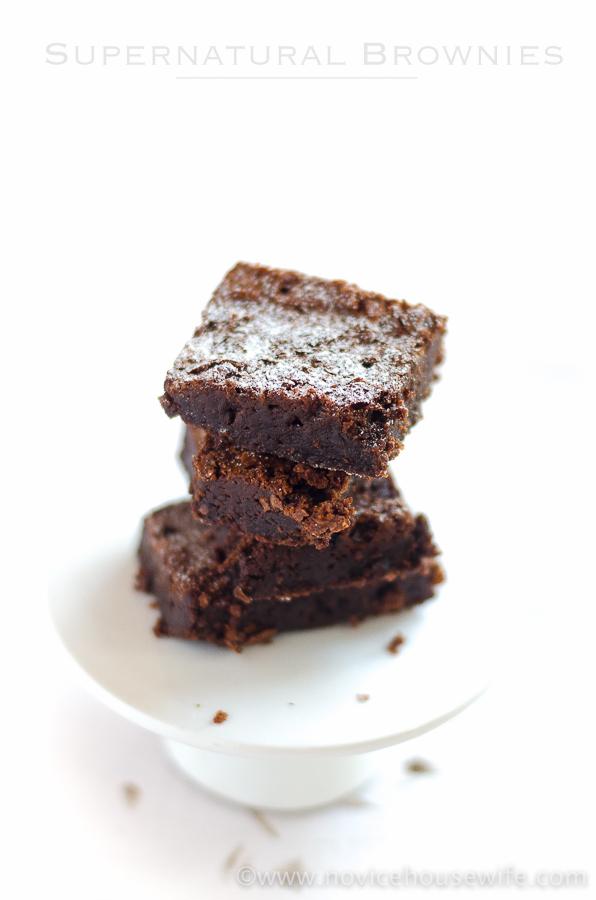 Super fudgey, super chocolatey, super easy brownie recipe.