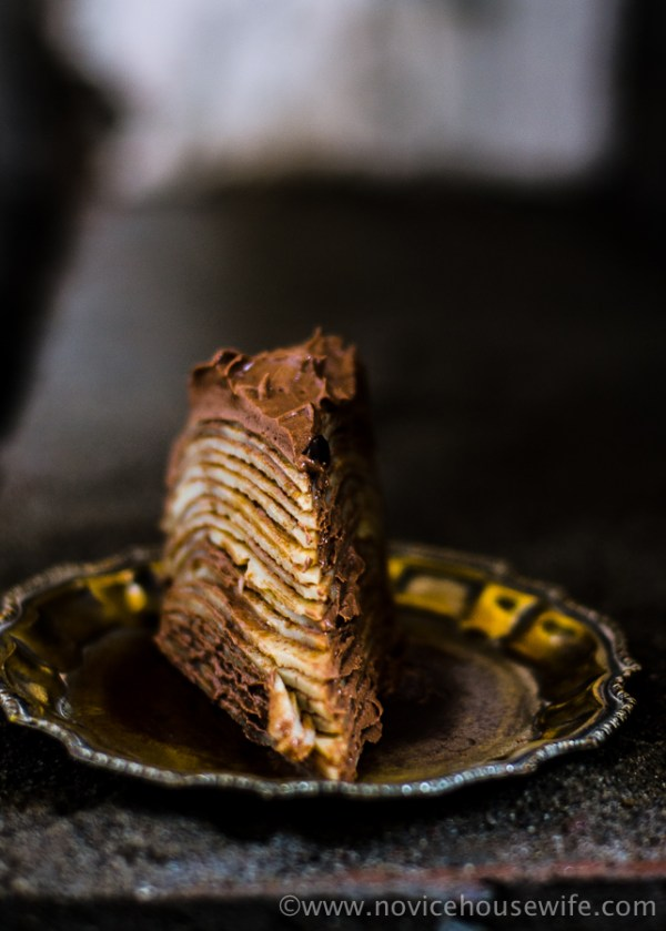 Nutella Crepe Cake | The Novice Housewife