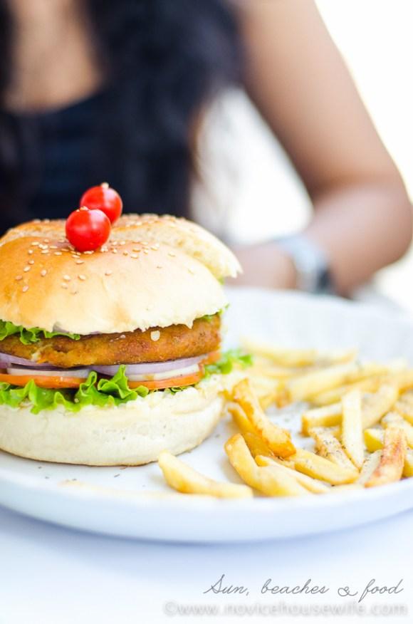 The Veg Burger at Thalassa, Goa    The Novice Housewife