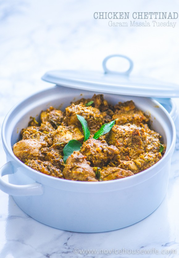 Chicken Chettinad | The Novice Housewife