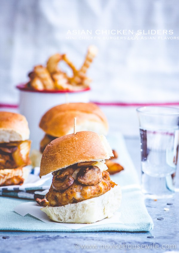 Asian Chicken Sliders   The Novice Housewife