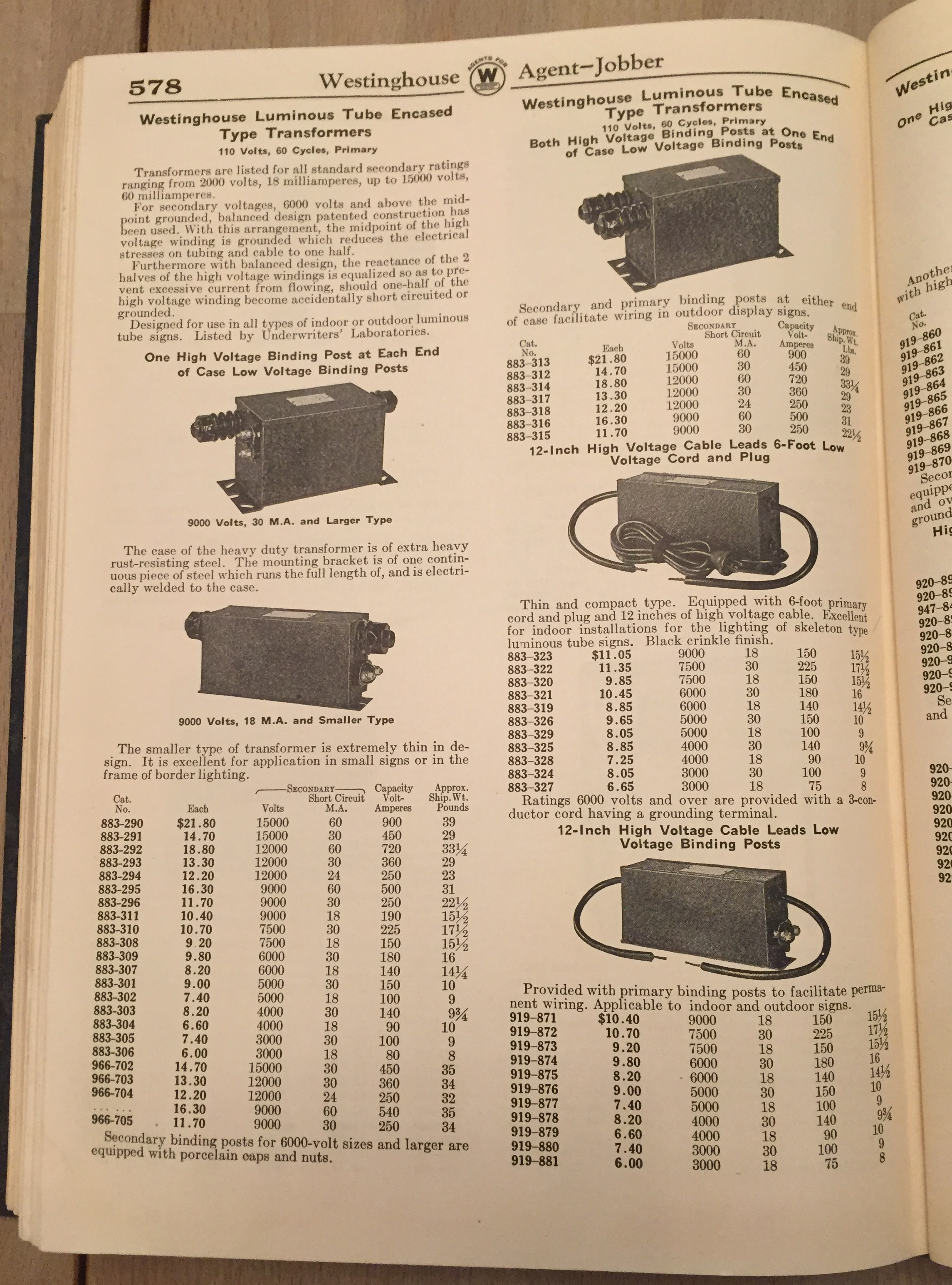 1936 Westinghouse Catalog_05_neon transformers_03?resize\\\\\\\=222%2C300 jefferson transformers 416 1147 000 wiring diagram,transformers  at mifinder.co