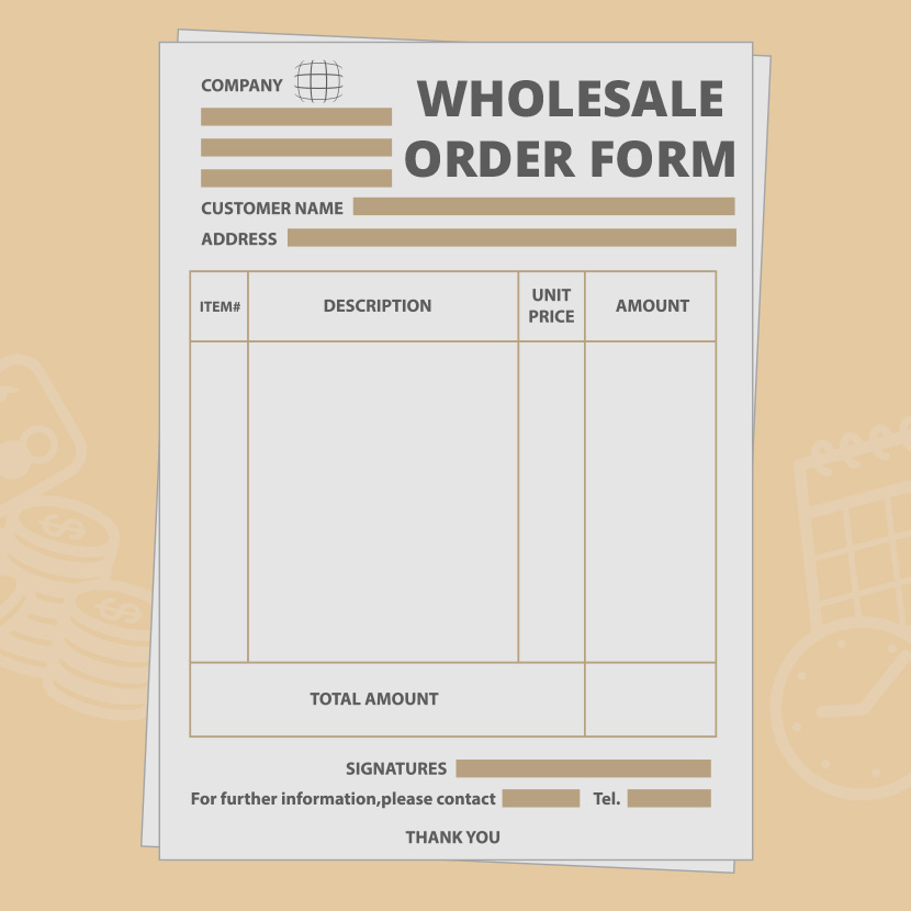 Wholesale Order Form Template - Create Your Own For Free