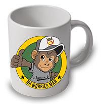 No Worries Man Mug