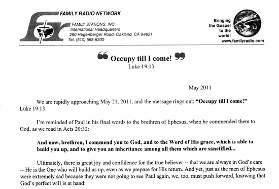 Shock! Is This Harold Camping\u0027s Suicide Goodbye Letter? \u2022 Now The