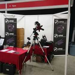 The stand all tidy at the start of the day