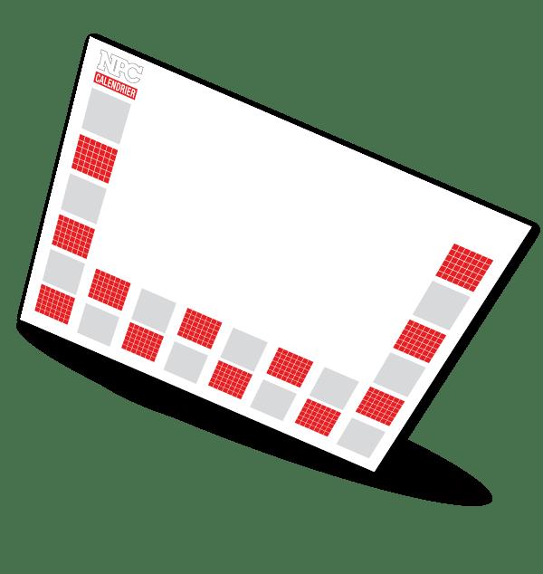 sous-main, calendrier sapeur-pompier, calendriers sapeurs-pompiers, npc-calendrier.fr