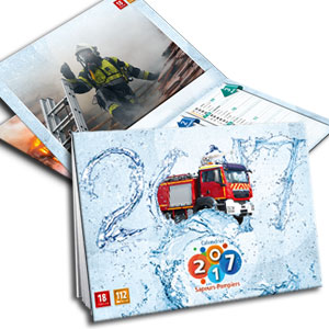couverture personnalisable calendrier de pompier NPC Calendrier 2017 22-06
