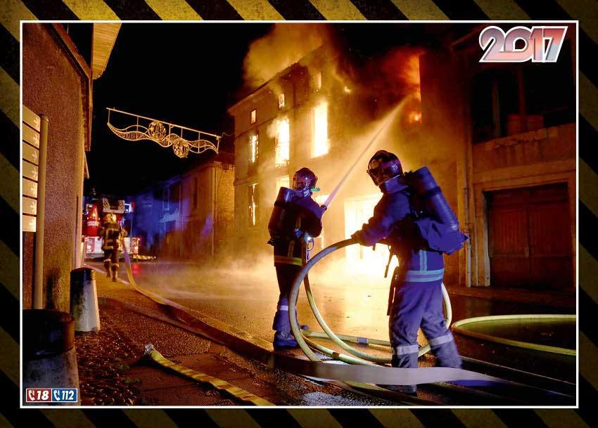 calendrier des sapeurs-pompiers de Bergerac-2017-4, npc-calendrier.fr