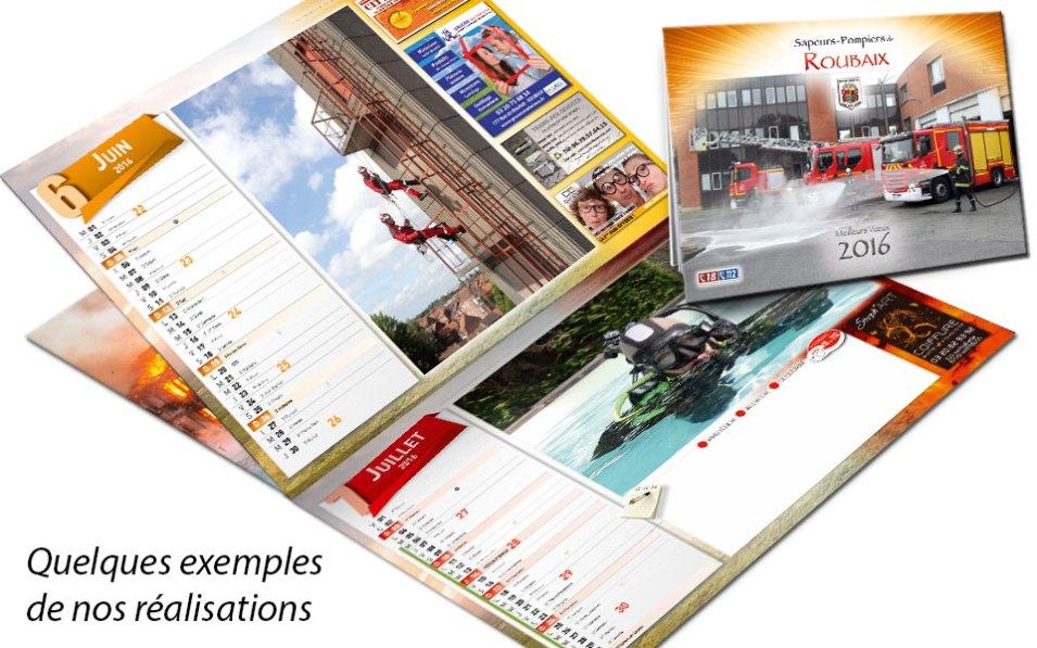 npc-calendrier.fr, calendrier des sapeurs-pompiers personnalisés et personnalisables, roubaix, 2016