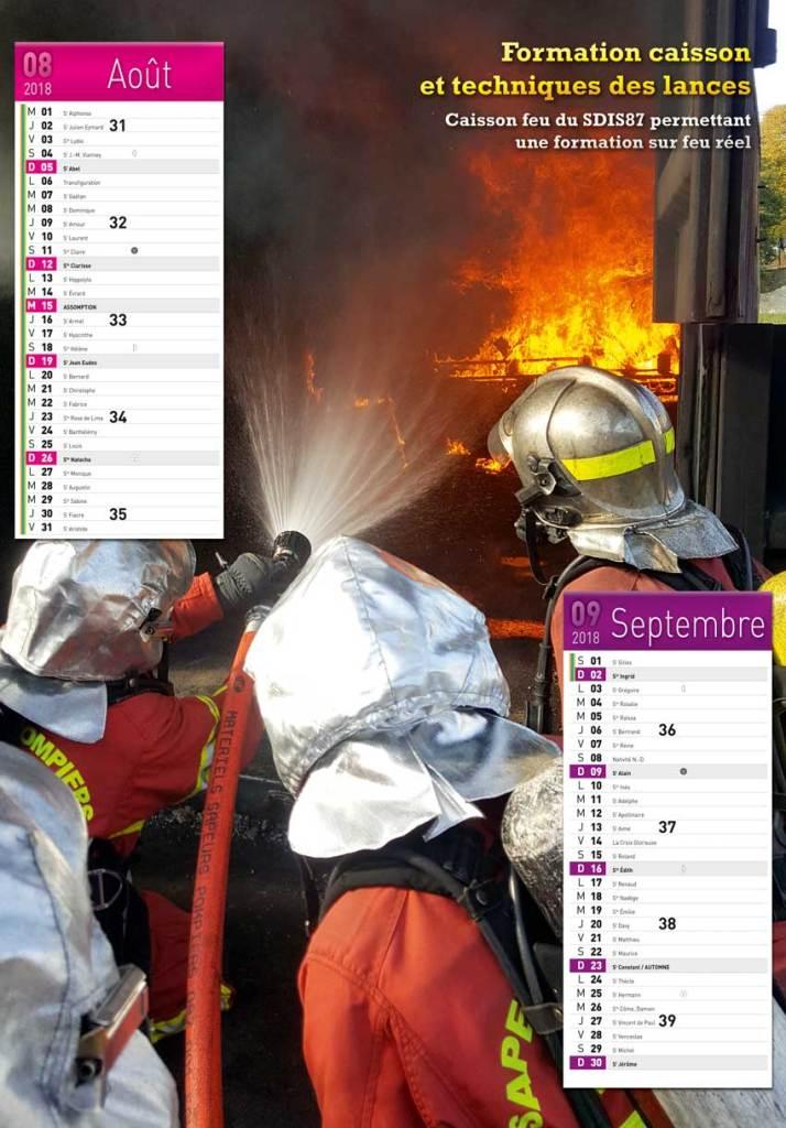 calendrier des sapeurs-pompiers de Chalus-2018-4, npc-calendrier.fr