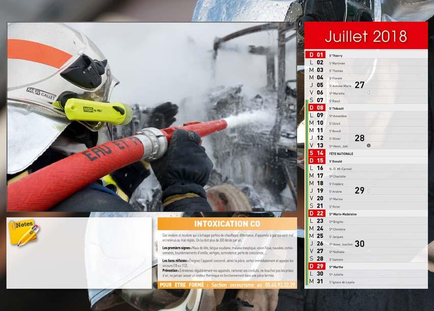 calendrier des sapeurs-pompiers de Villebois-2018-3, npc-calendrier.fr