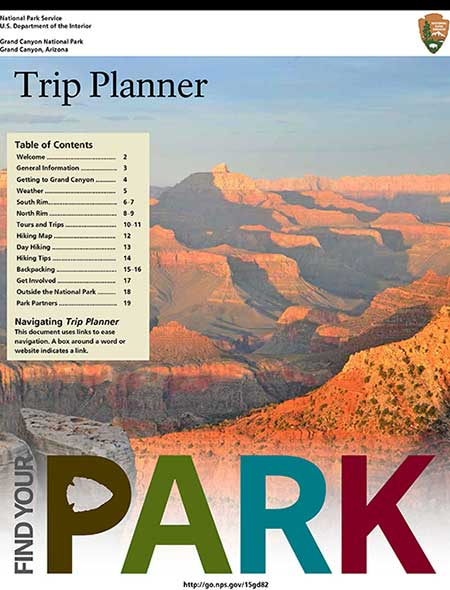 Trip Planning Publications (Formerly Newspapers) - Grand Canyon