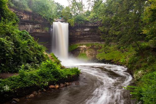 New England Fall Wallpaper Free Minnehaha Falls Regional Park Mississippi National River