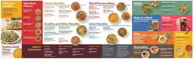 Noodles menu tweaks include new format, better for you dishes
