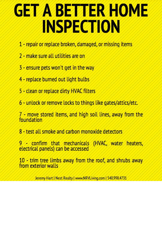 10 Steps To A Great Home Inspection \u2013 NRVLiving \u2013 Real Estate