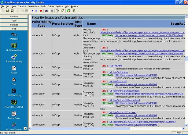 Security Audit Reports - Network Utilities - audit reports