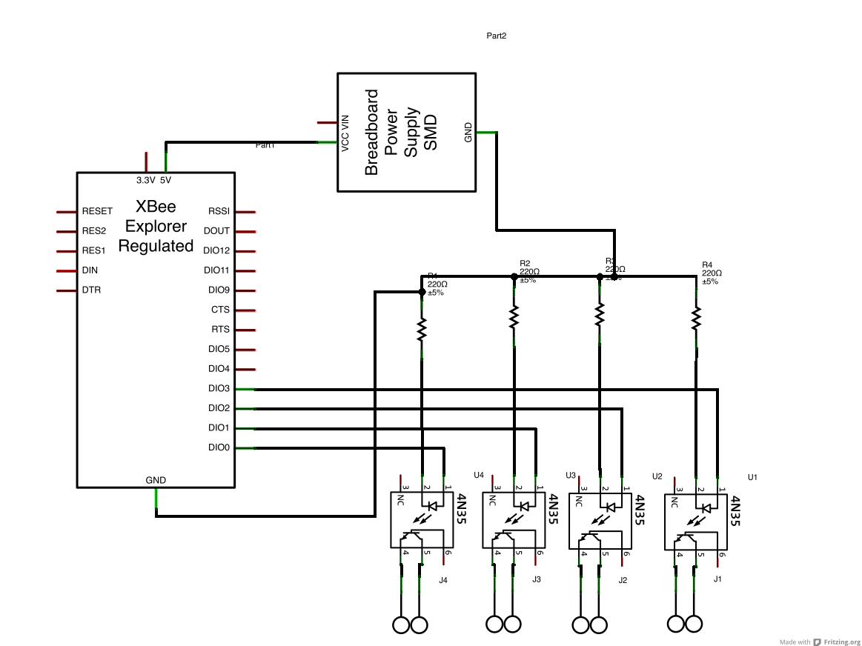 phototransistor circuit diagram on breadboard wiring