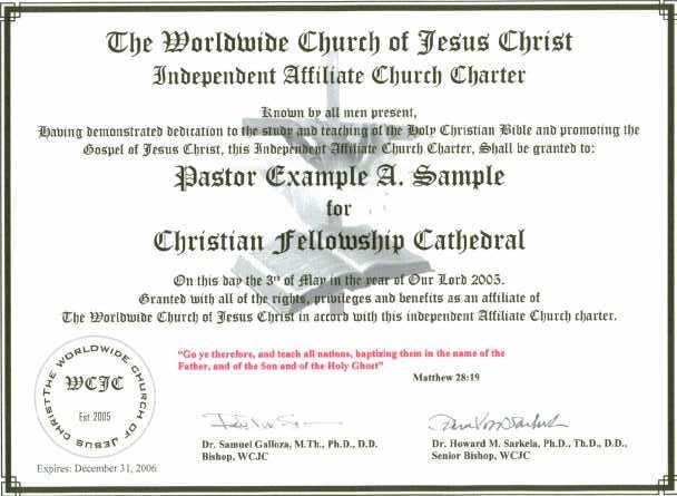 WCJC Sample Certificate - samples certificate