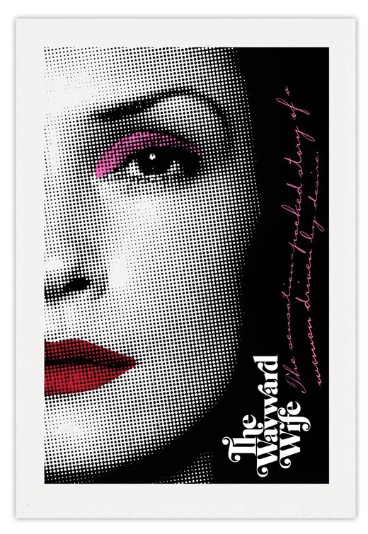 art design poster famke janssen  screen print nubby twiglet