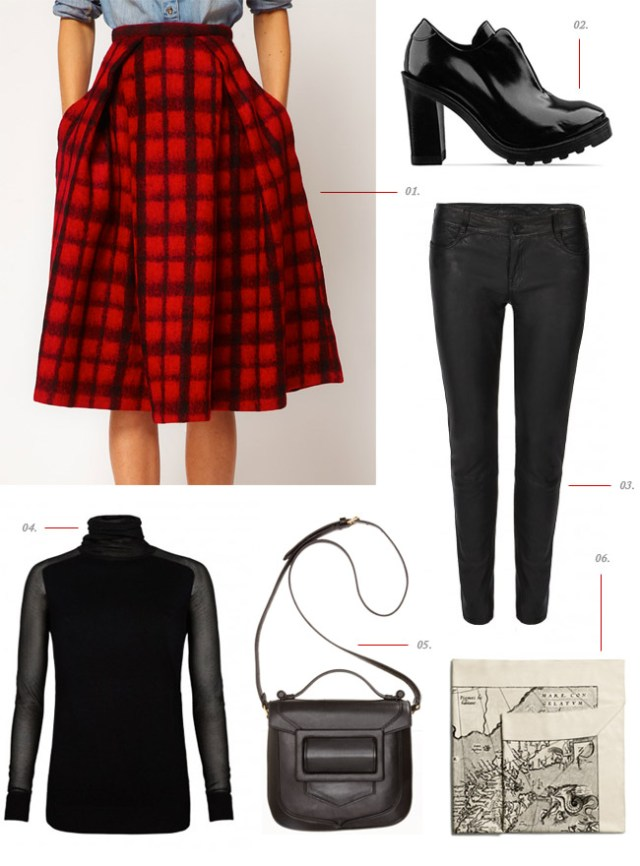 What I Wore: Asos Plaid Skirt